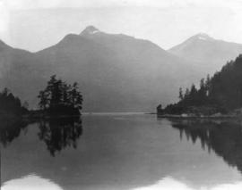 [View of the entrance to Princess Louisa Inlet]