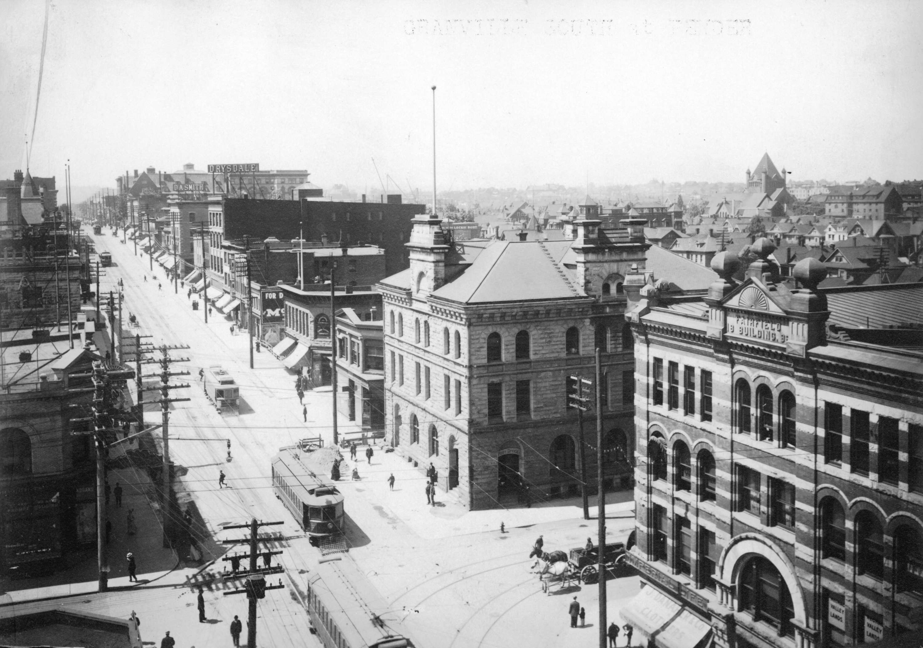 Granville Street south of Pender Street showing Post fice and