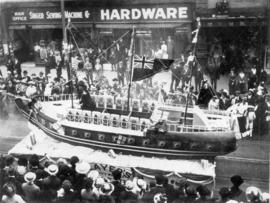 [The Players (Navy Cut) Cigarettes Company float in the 600 Block of Granville Street during a Vi...