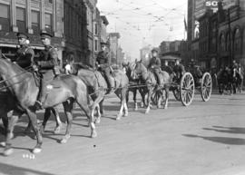 68th C.F.A. parade - horses - wagon