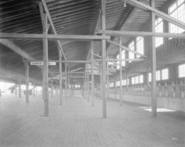 [Photograph of interior betting ring at Lansdowne Park racetrack, Richmond B.C.]