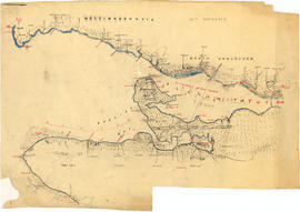[Draft map of Indian villages and landmarks, Burrard Inlet and English Bay, before the whiteman c...