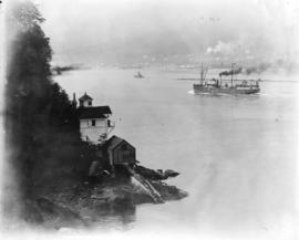 [View of Prospect Point lighthouse and the First Narrows]