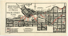 Vancouver, British Columbia : northerly portion, former City of Vancouver : major street plan