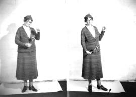 Mrs. G. Murray wearing homespun suit
