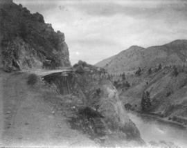 [Road above Thomson River in dry belt]