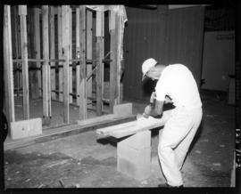 Construction of display rooms in Manufacturers' building