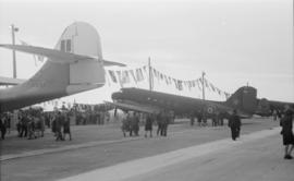 "[A Douglas ""Dakota"" transport plane at airshow]"