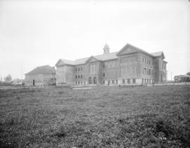 [Carleton School, showing old and new school buildings]