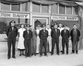 Hilton Dairy [staff in front of 6395 Fraser Street]