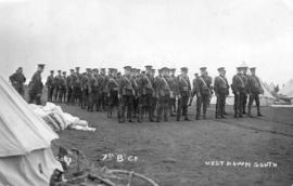 "7th Battalion, ""B"" company. West Down South"