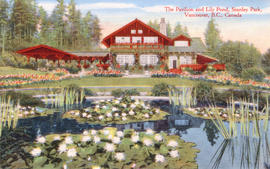 The Pavilion and lily pond, Stanley Park, Vancouver, B.C., Canada