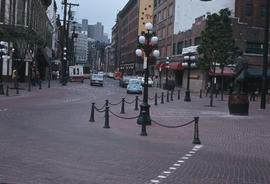 [Gassy Jack Statue and Water Street looking west]