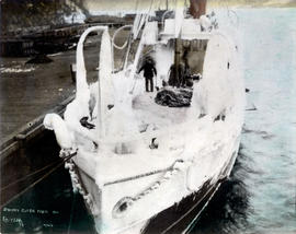 "Steamer ""Cutch"" [covered with ice and snow]"