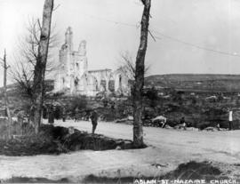 54th Canadians [at ruins of] Church, Ablain St. Nazaire