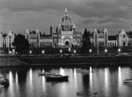 The Parliament Buildings at night