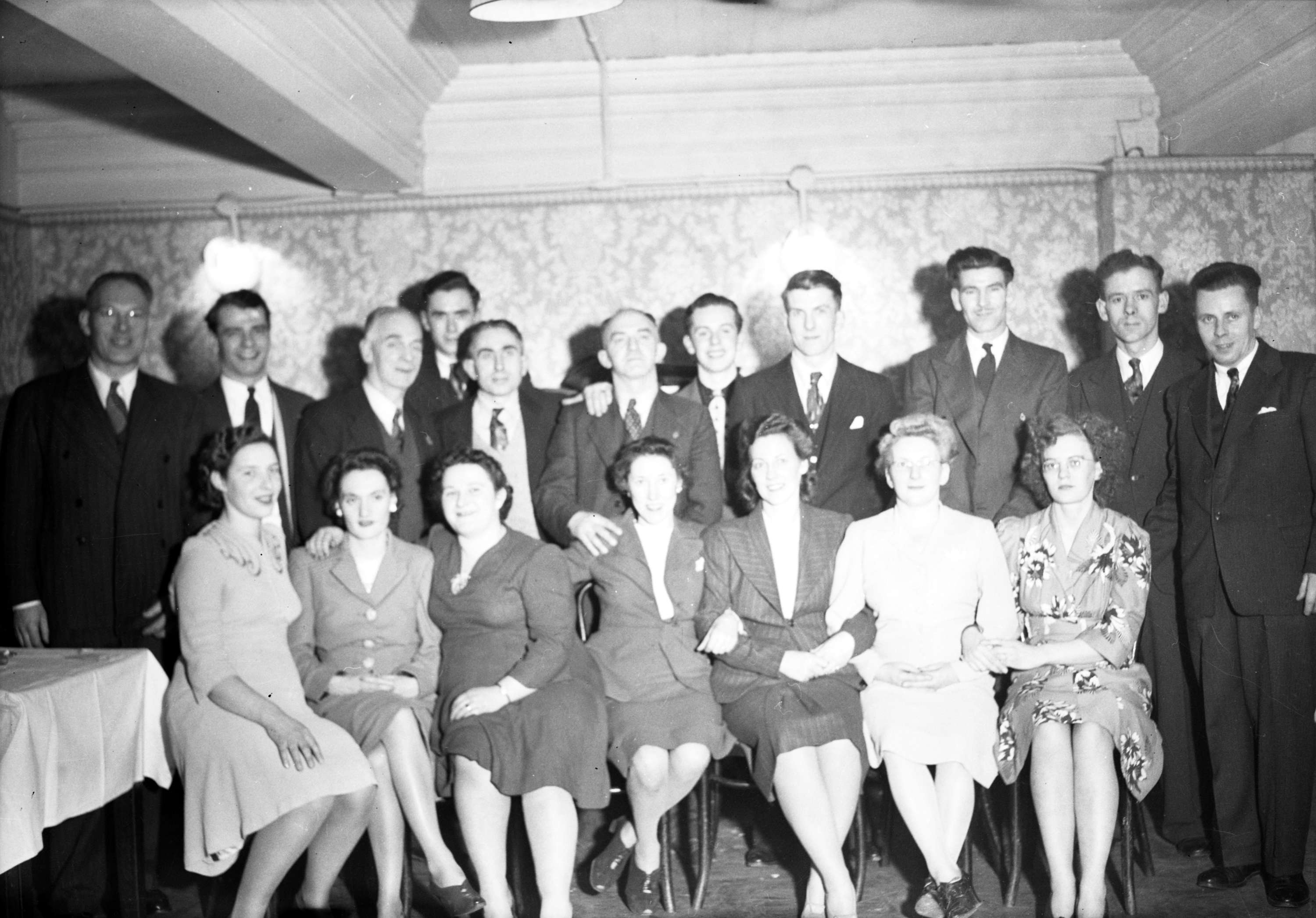 Group Of Men In Suits And Women In Dresses City Of Vancouver Archives