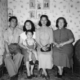 Gum May Yee, Lillian Wong, Alfred, Phyllis, and Darrell