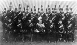 [The Duke of Connaught and officers of the 6th Regiment of the D.O.C.R. at Brockton Point]