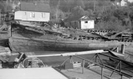 "[The hulk of the S.S. ""Britannia"" on the south bank of the Fraser River near Ladner]"