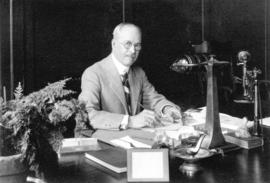 [Portrait of Mayor L.D. Taylor seated at desk]