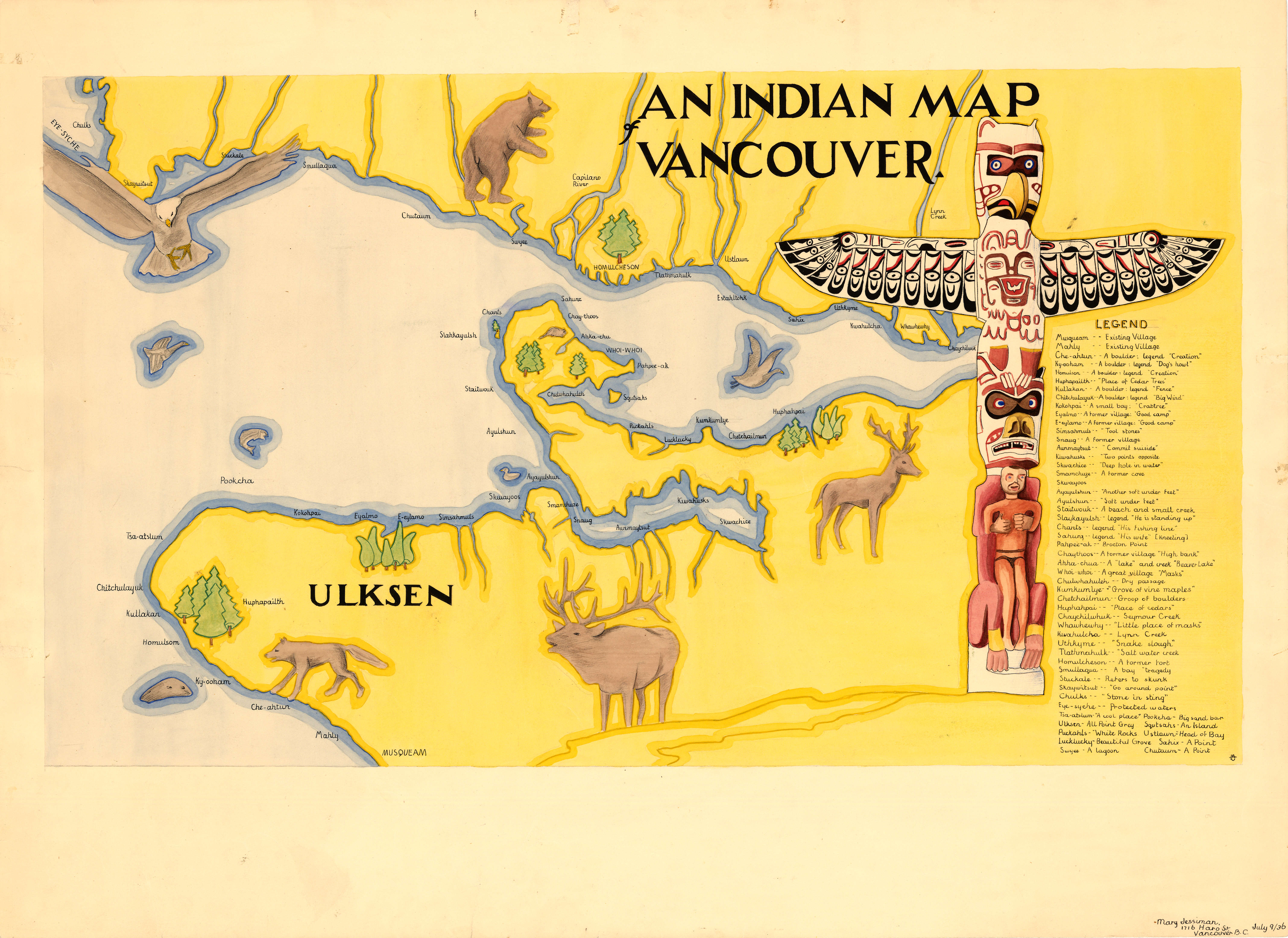 An Indian map Vancouver City of Vancouver Archives