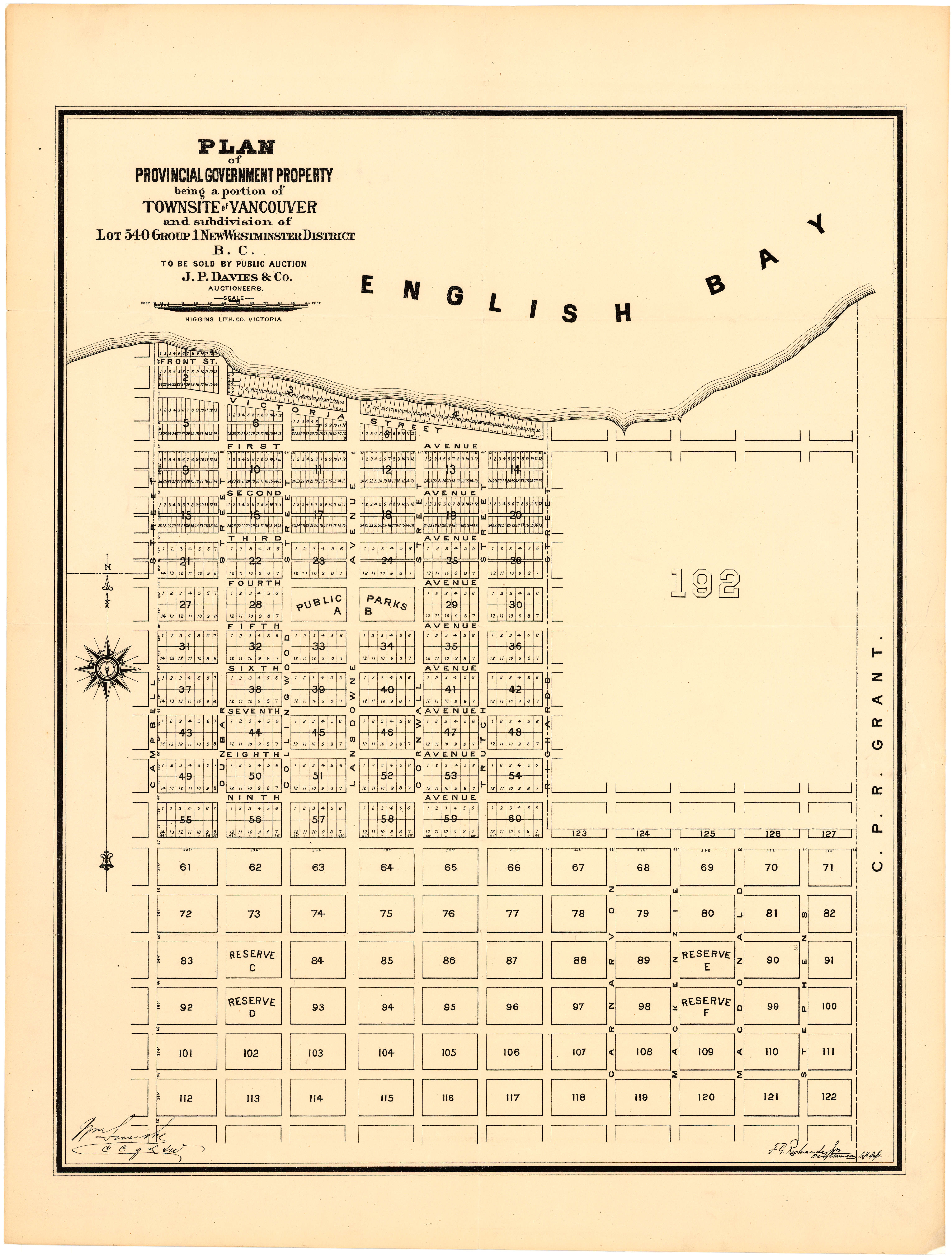 Plan of provincial government property being a portion of for Lot plan search