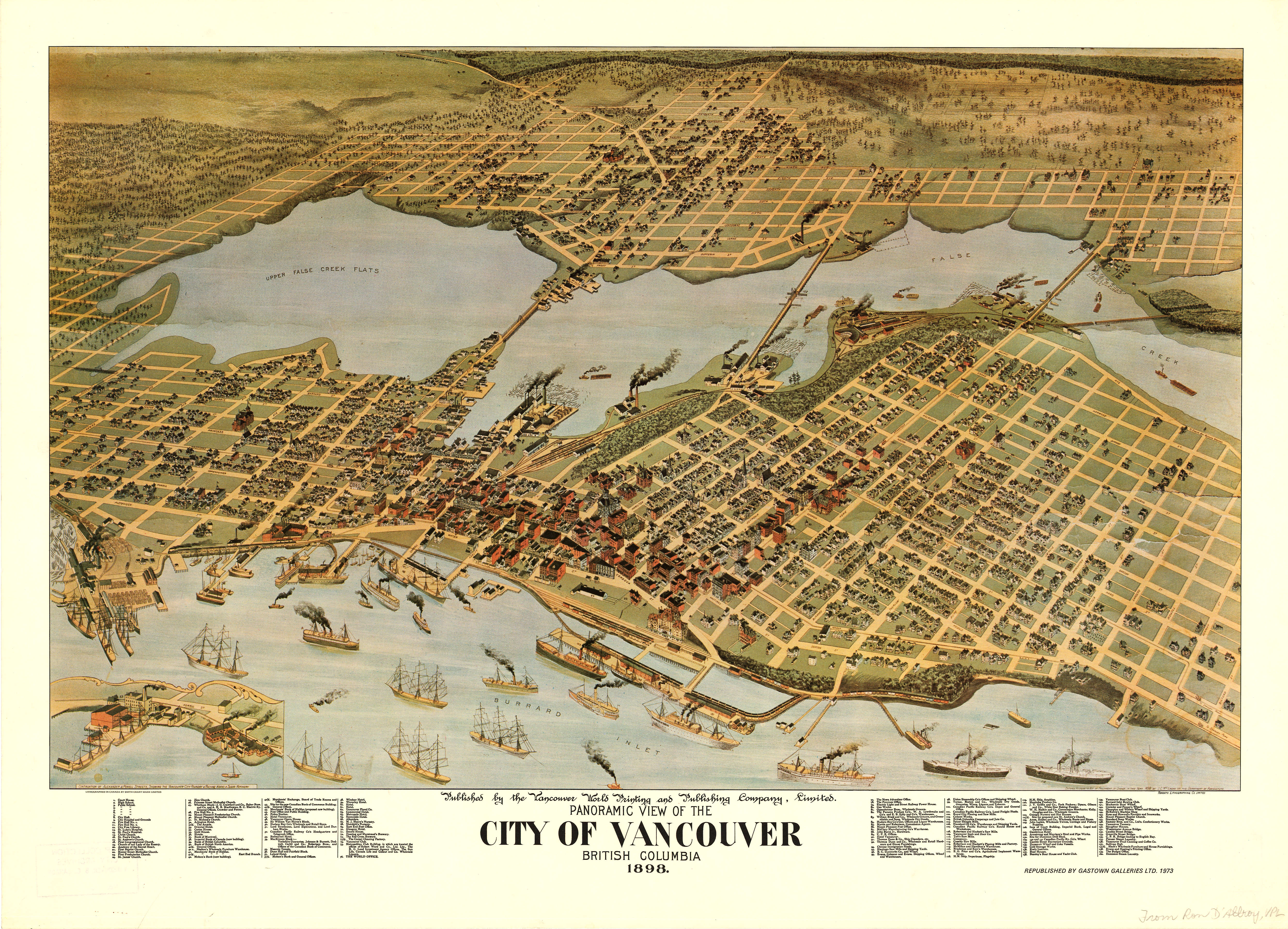 Panoramic view of the city of vancouver british columbia 1898 open original digital object gumiabroncs Image collections