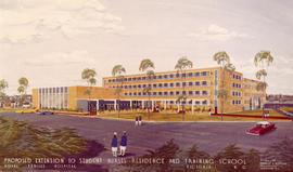 Proposed extension to nurses' residence and training school, Royal Jubilee Hospital, Victoria B.C.