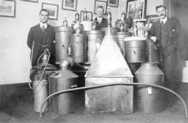 View of liquor stills captured during Prohibition