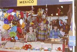 Display of products from Mexico at 1971 P.N.E. International Bazaar