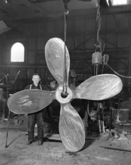 Propeller [made at] Sumner Brass Foundry [619 Bidwell Street]