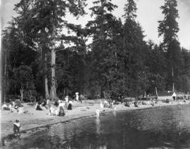 English Bay bathing beach