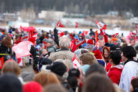 100 Mile House, British Columbia, Coca Cola, Community Celebration, Crowd, Day 91, Jan 28, Januar...