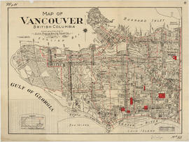 Map of Vancouver, British Columbia