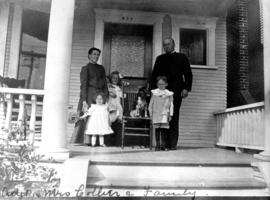 [Adjutant] and Mrs. Collier and family [on front porch]