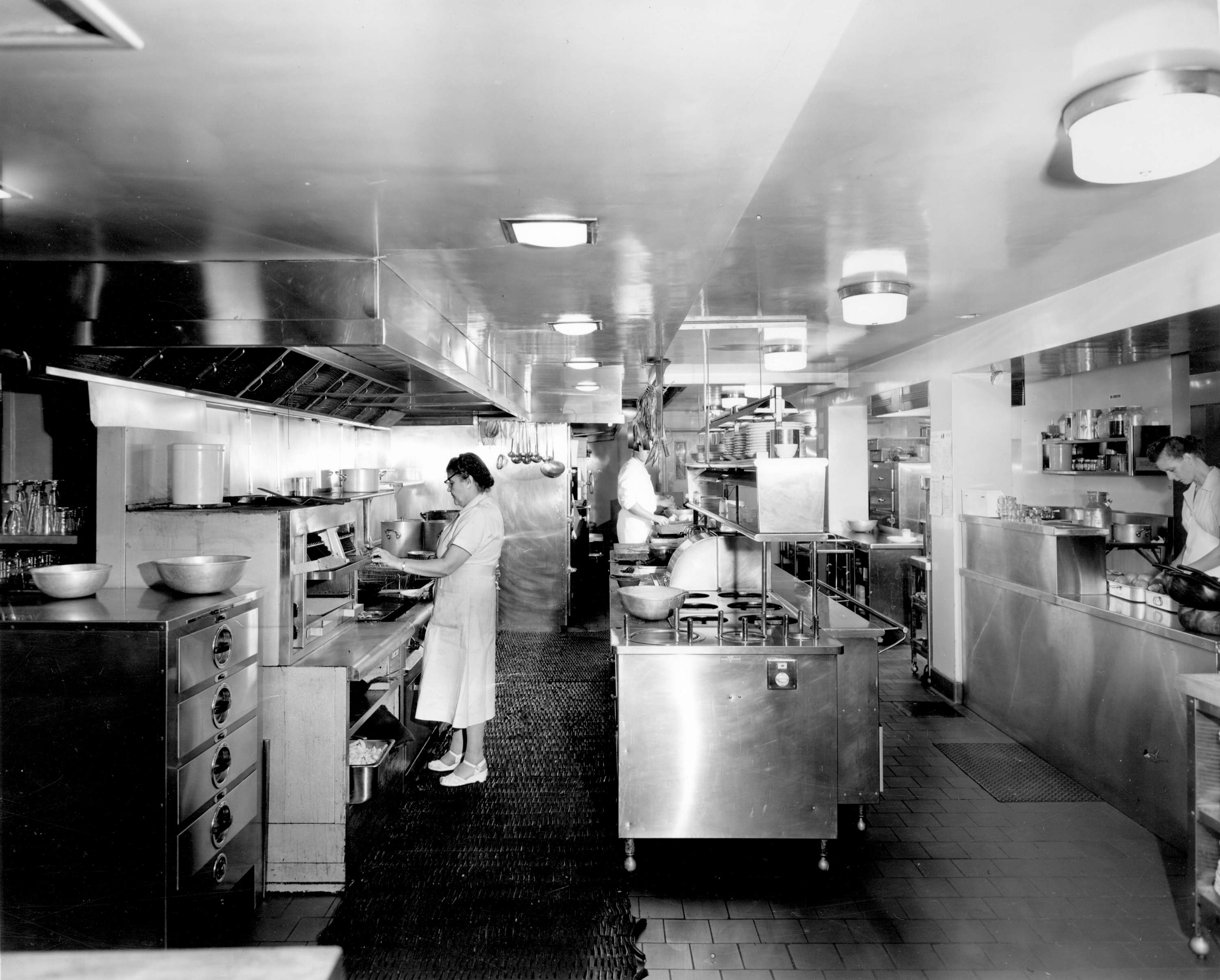 Waldorf Hotel kitchen - basement level] - City of Vancouver Archives