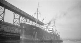 "[S.S. ""Glamorganshire"" at Canadian Government elevator dock]"