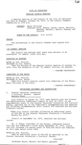 Council Meeting Minutes : Oct. 28, 1975