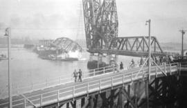 [Demolition of Second Narrows Bridge]