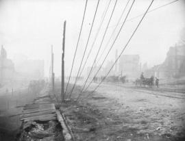 [Columbia Street after the Great Fire]