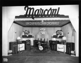 Marconi Co. display of radios