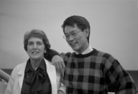 Paul Yee with Anna Sumpton (colleague from the City of Vancouver Archives)