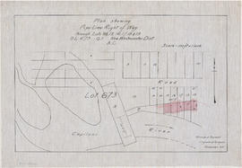 Plan shewing pipe line right of way through Lots 15, 16, 17, 18 & 19 D.L. [District Lot] 673 ...