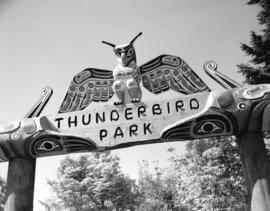 Thunderbird Park [sign]