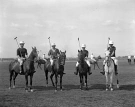 Vancouver Polo Team - [four mounted players]