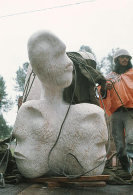 David Ruben with sculpture