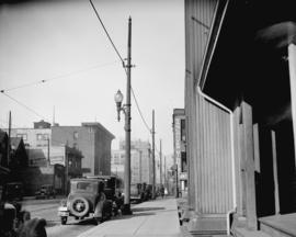 [Richards Street scene (showing telephone poles taken for Col. Tait)]