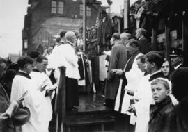 Laying of cornerstone of St. James' Church [303 East Cordova Street] by Archbishop De Penier...