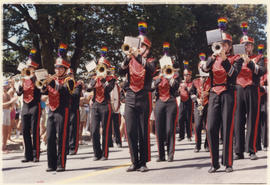 Marching band at the Pride Day parade